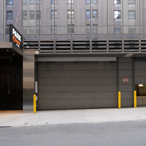 Indoor lot parking on West 57th Street in New York