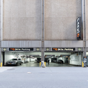 Indoor lot parking on 140-166 West 53rd St in New York