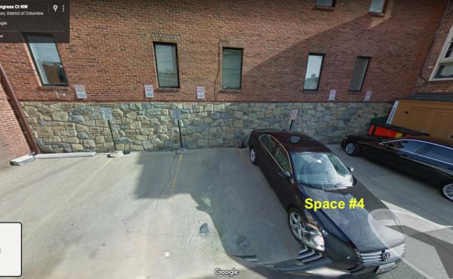 Outdoor lot parking on 31st Street Northwest in Washington