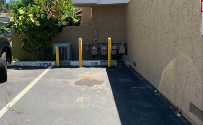 Outdoor lot parking on Aleppo Court in Thousand Oaks