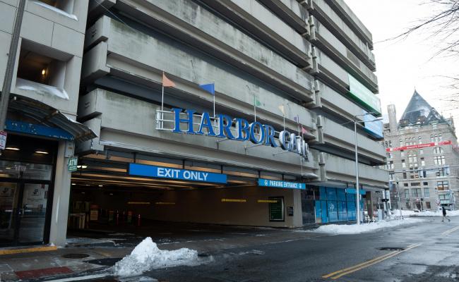 Garage parking on Atlantic Avenue in Boston