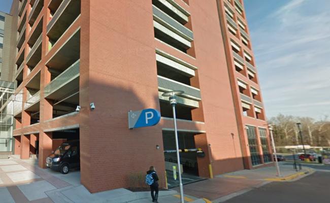 Garage parking on Baltimore Avenue in College Park