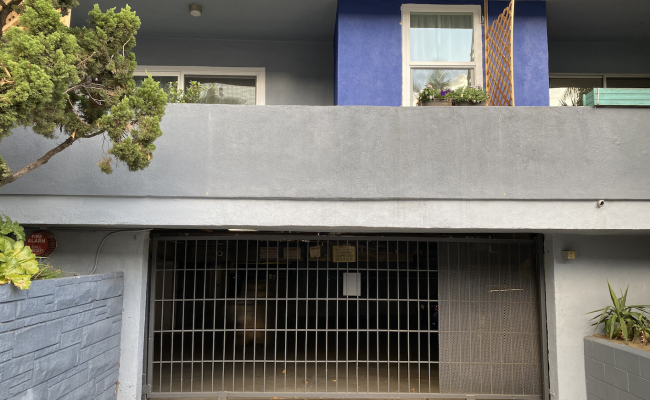Garage parking on Cheremoya Avenue in Los Angeles