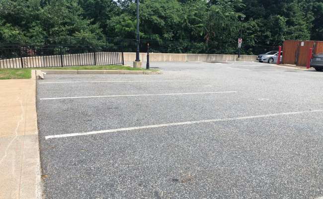 Outdoor lot parking on Commonwealth Avenue in Chestnut Hill