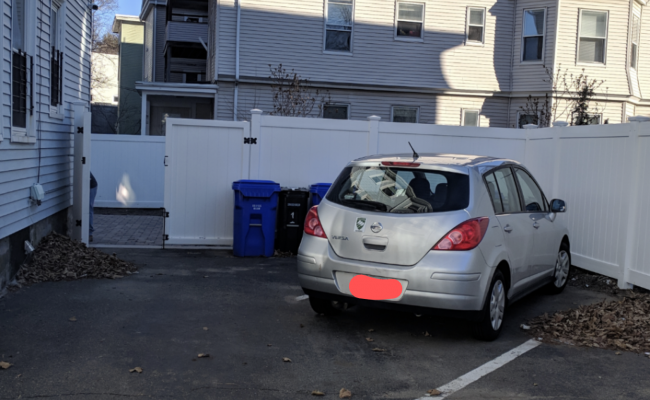 Driveway parking on Cypress Street in Brookline