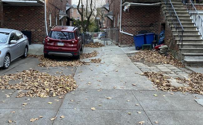 Driveway parking on East 69th Street in Brooklyn