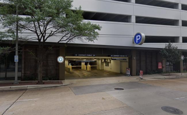 Garage parking on Fannin St in Houston