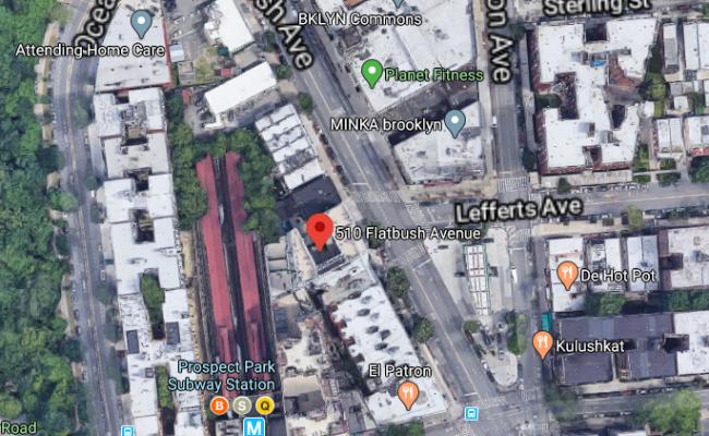 Indoor lot parking on Flatbush Avenue in Brooklyn