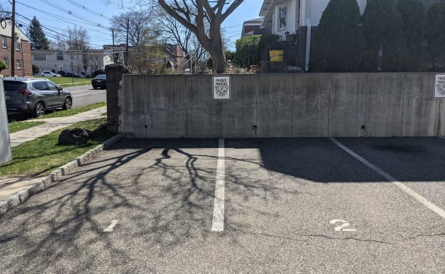 Outside parking on Grand Avenue in Palisades Park