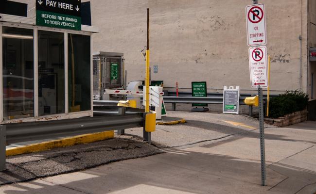 Garage parking on Grant Street in Pittsburgh