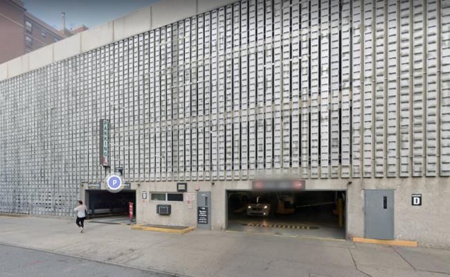 Indoor lot parking on Hudson Street in Hoboken