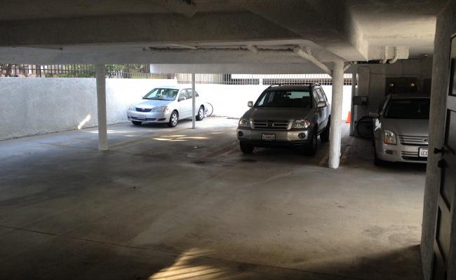 Garage parking on Hughes Avenue in Los Angeles