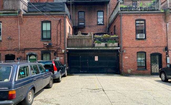 Garage parking on Marlborough Street in Boston