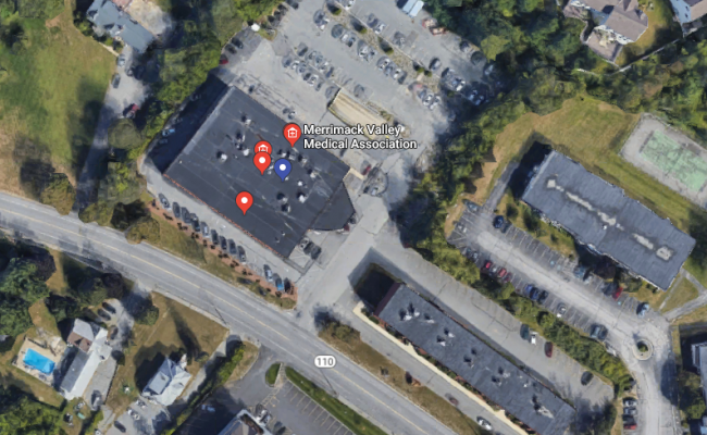 Indoor lot parking on Merrimack St in Methuen