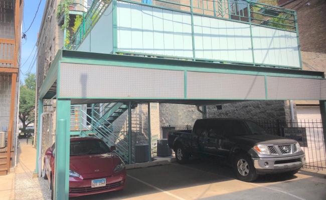 Carport parking on North Dean Street in Chicago