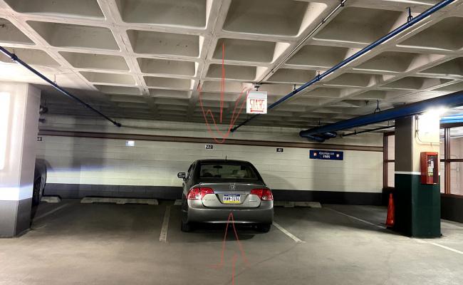 Garage parking on North Field Boulevard in Chicago
