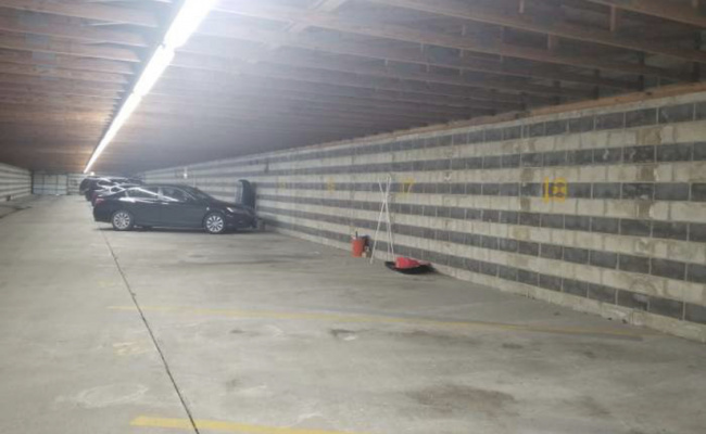 Indoor lot parking on North May Street in Chicago