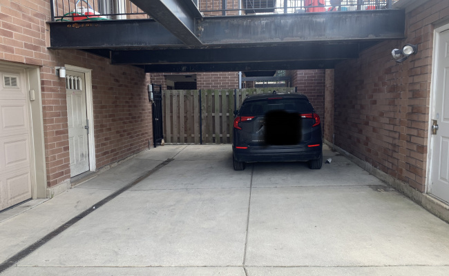 Covered parking on North Sheffield Avenue in Chicago