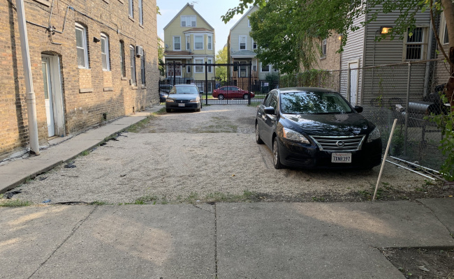 Outdoor lot parking on North Springfield Avenue in Chicago