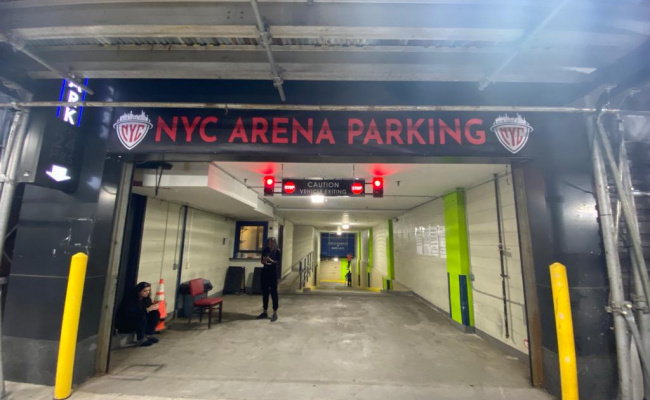 Garage parking on Pacific Street in Brooklyn