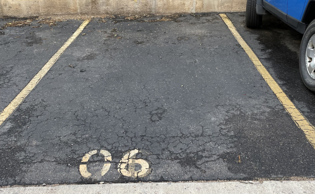 Outdoor lot parking on Pearl St in Boulder