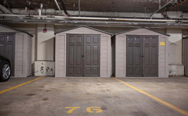 Indoor lot parking on Porter St in Boston