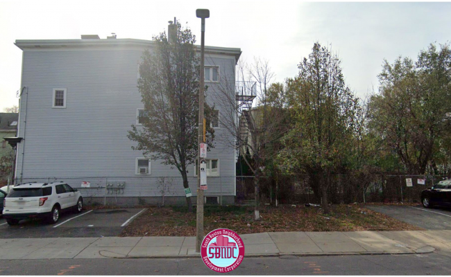 Outdoor lot parking on Preble Street in South Boston Naval Annex