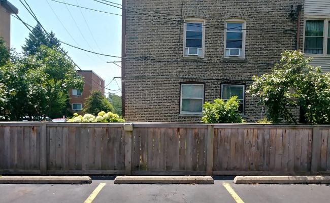 Outdoor lot parking on Ridge Avenue in Evanston