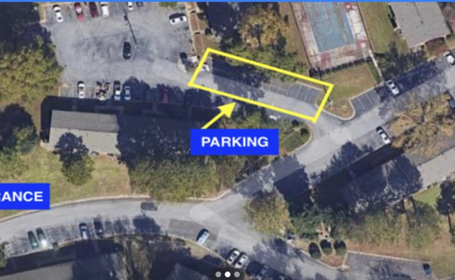Outdoor lot parking on Riverdale Road in Atlanta
