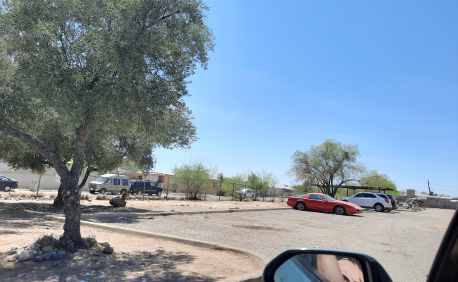 Outside parking on South Del Moral Boulevard in Tucson
