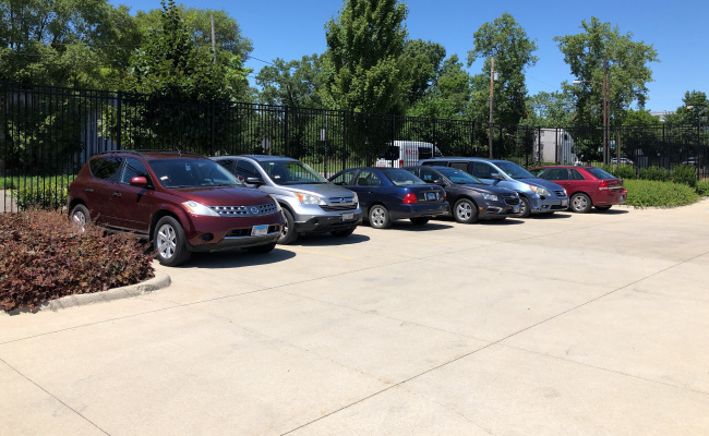 Outdoor lot parking on South Wood Street in Chicago
