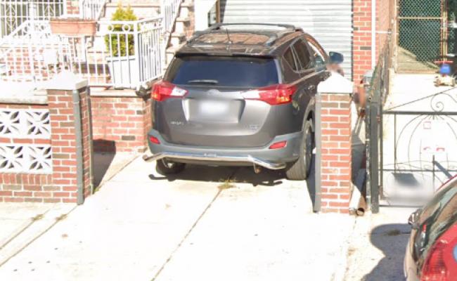 Driveway parking on St in Brooklyn
