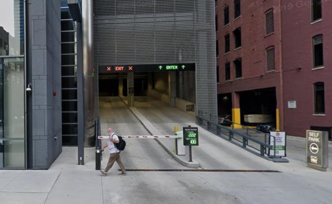 Garage parking on W Adams St in Chicago