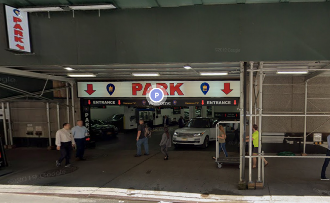 Garage parking on West 53rd Street in New York City