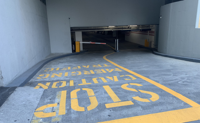 Garage parking on Wilshire Boulevard in Los Angeles