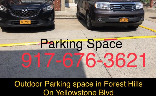 Garage parking on Yellowstone Blvd in Queens