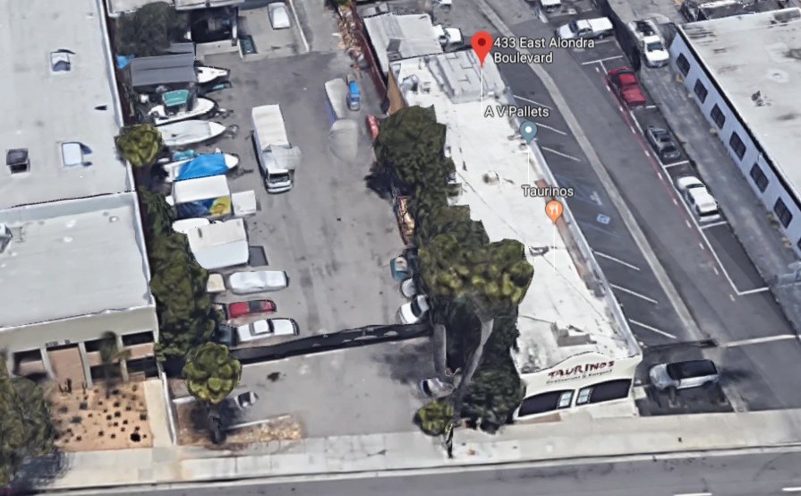 Outdoor lot parking on E Alondra Blvd in Gardena