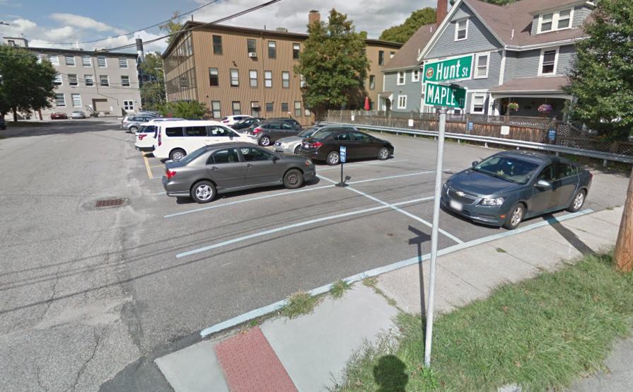 Outside parking on Hunt St in Watertown