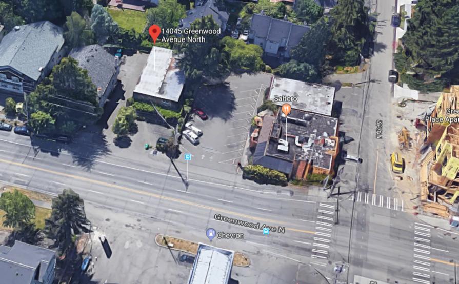 Garage parking on Greenwood Ave N in Seattle