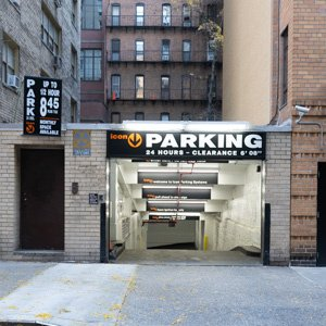 Indoor lot parking on 344-352 East 52nd St in New York