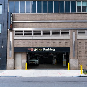 Indoor lot parking on 10th Ave in New York