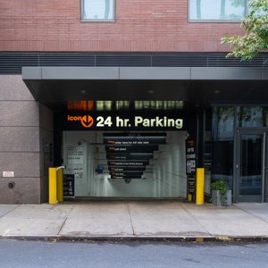 Indoor lot parking on West 52nd St in New York