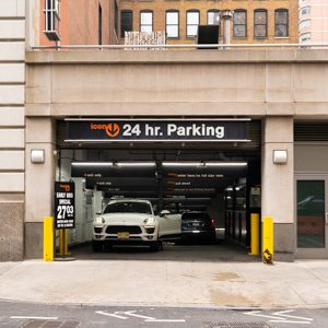 Indoor lot parking on West 25th Street in New York
