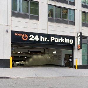 Indoor lot parking on Riverside Boulevard in New York