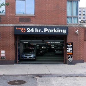 Indoor lot parking on West 37th St in New York