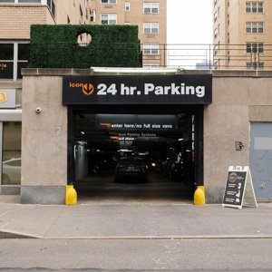 Indoor lot parking on 5th Avenue in New York