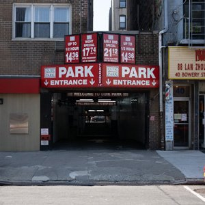 Indoor lot parking on 30-38 Bowery in New York