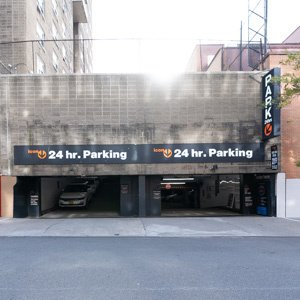 Indoor lot parking on 10th Avenue in New York