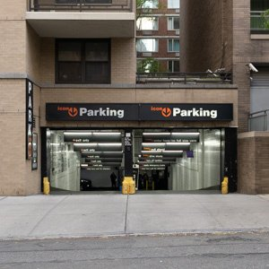 Indoor lot parking on West 67th St in New York