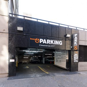 Indoor lot parking on East 107th St in New York